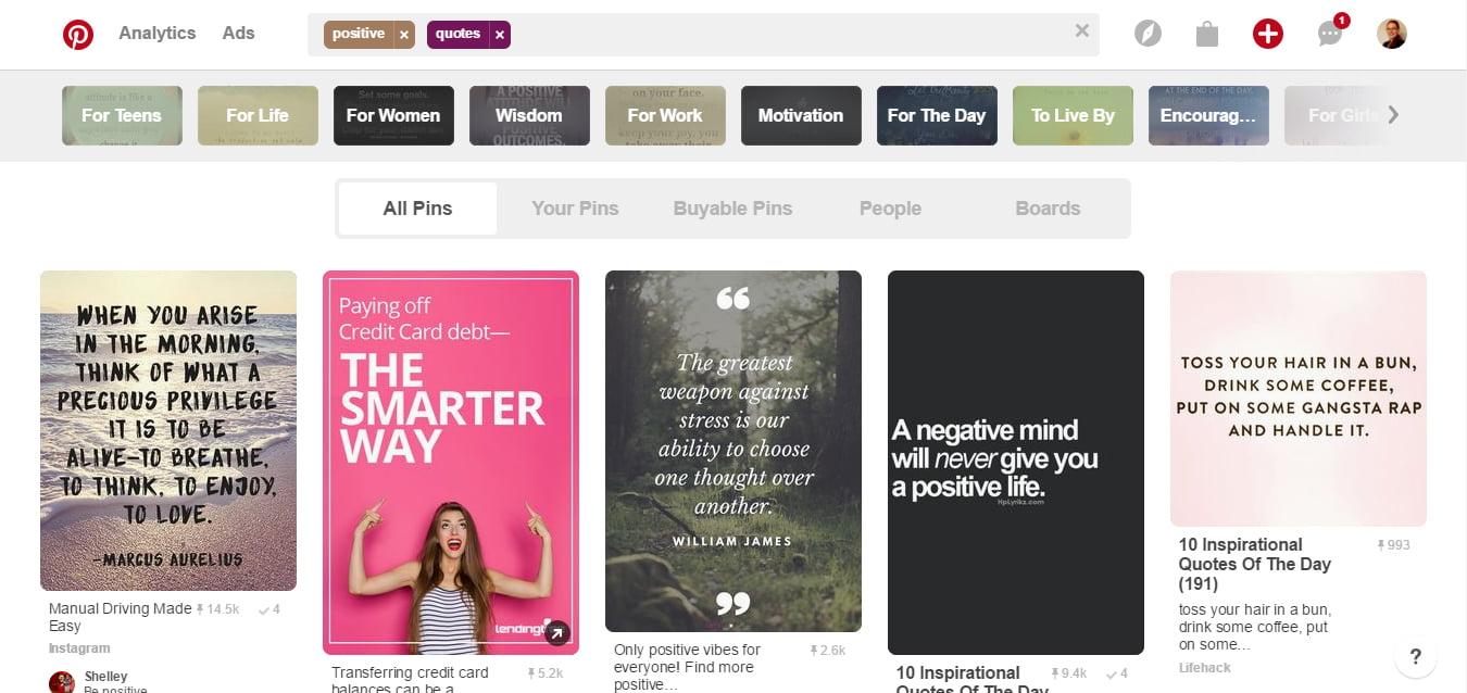 Pinterest Trending Ideas Search on Desktop3