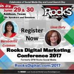 Rocks Digital Marketing Conference Dallas 2017
