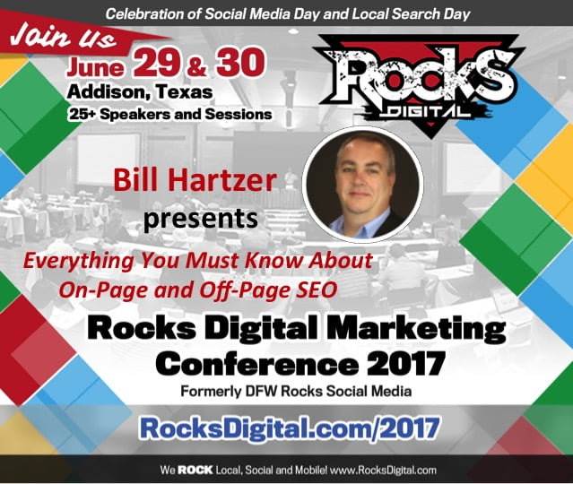 Bill Hartzer, Domain Authority at Rocks Digital Marketing Conference in Dallas 2017