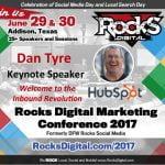 Dan Tyre, Hubspot to keynote, Rocks Digital Marketing Conference Dallas