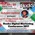 DeAndre Upshaw to Speaker at Rocks Digital Marketing Conference in Dallas, 2017