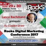 Lance Bachmann to speak at Rocks Digital Marketing Conference in Dallas 2017