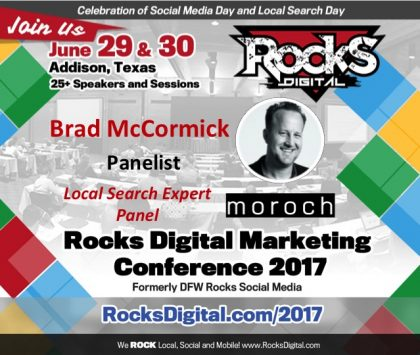 Expert Digital Strategist Brad McCormick of Moroch to Join the Local Search Panel
