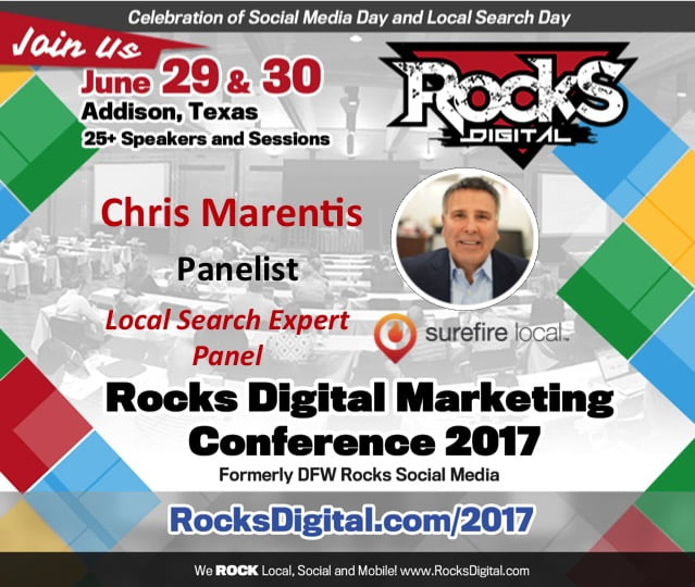 Rocks Digital Welcomes Chris Marentis, CEO of Surefire Local, to the Local Search Expert Panel