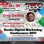 Greg Sterling to Speak on Future of Local Search and Rocks Digital Marketing Conference 2017 in Dallas