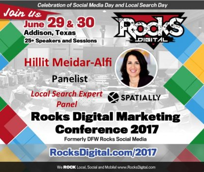 CEO of Spatially, Hillit Meidar-Alfi, Joins #RocksDigital Local Search Expert Panel