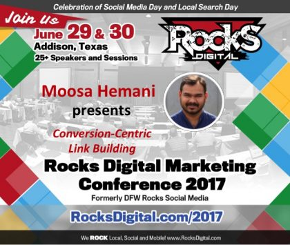 Moosa Hemani, SEO and Link Building Specialist to Speak at Rocks Digital Marketing Conference 2017
