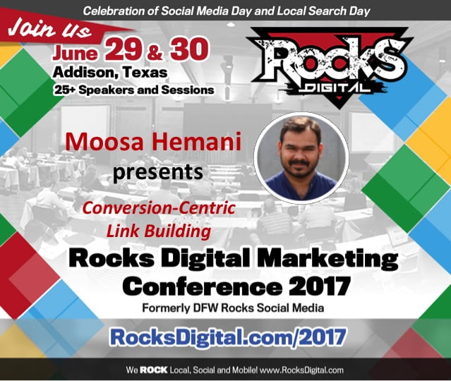 Moose Hemani to Speak at Rocks Digital Marketing Conference 2017