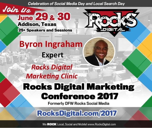 Byron Ingraham Shares his Marketing Strategy Expertise at the #RocksDigital Marketing Clinic