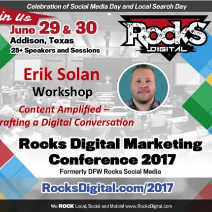 Erik Solan of Vertical Measures to Lead Content Amplification Workshop at #RocksDigital 2017