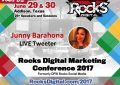 Junny Barahona, Social Media Strategist, to Live Tweet at #RocksDigital 2017