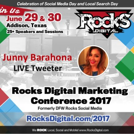 Junny Barahona, Social Media Strategist, to Live Tweet at #RocksDigital 2017