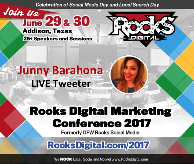 Junny Barahona, Live Tweet at Rocks Digital 2017