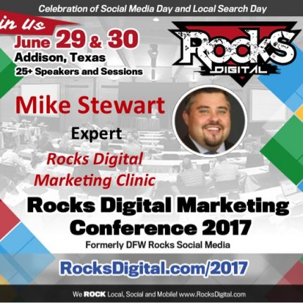 Online Marketing Expert Mike Stewart to Participate in the Rocks Digital Marketing Clinic