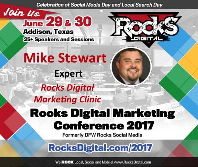 Mike Stewart to Participate in the Rocks Digital Marketing Clinic | Rocks Digital 2017
