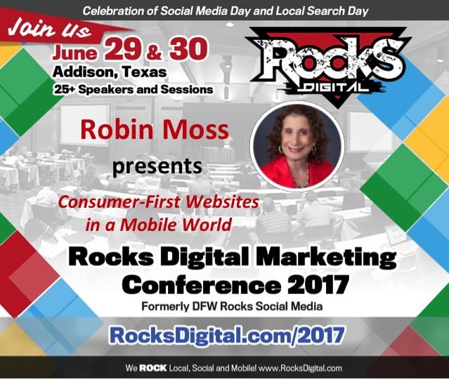 Robin Moss, Web Designer, to Speak on Consumer-First Websites at Rocks Digital 2017