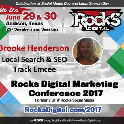 Local Search Marketer, Brooke Henderson to Emcee the Local Search and SEO Track