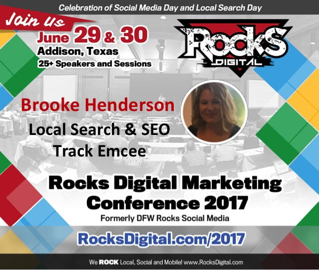 Brooke Henderson to Emcee the Local and SEO Track | Rocks Digital 2017