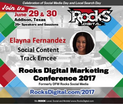 The Positive Mom, Elayna Fernandez, to Emcee the Social Content Track at Rocks Digital 2017
