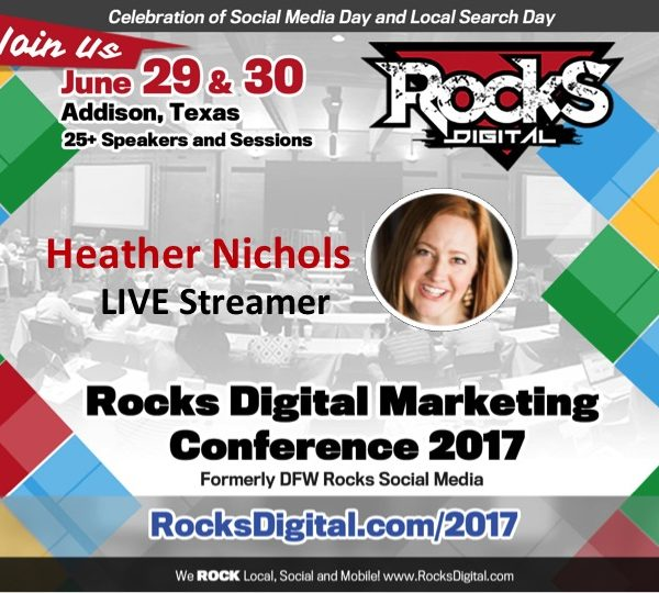 Heather Nichols to Live Stream Interviews from Rocks Digital Facebook Page