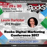 Laura Darkstar, Live Blogger at Rocks Digital 2017