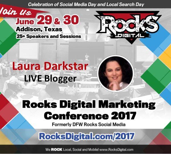 Laura Darkstar Will Be LIVE Blogging at #RocksDigital 2017