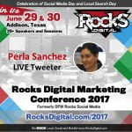 Perla Sanchez to Live Tweet at Rocks Digital 2017