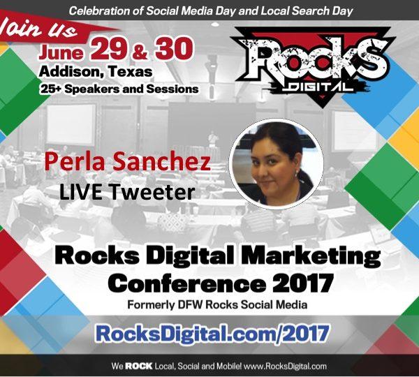 Perla Sanchez, Bilingual Social Media Strategist, to Live Tweet During #RocksDigital 2017