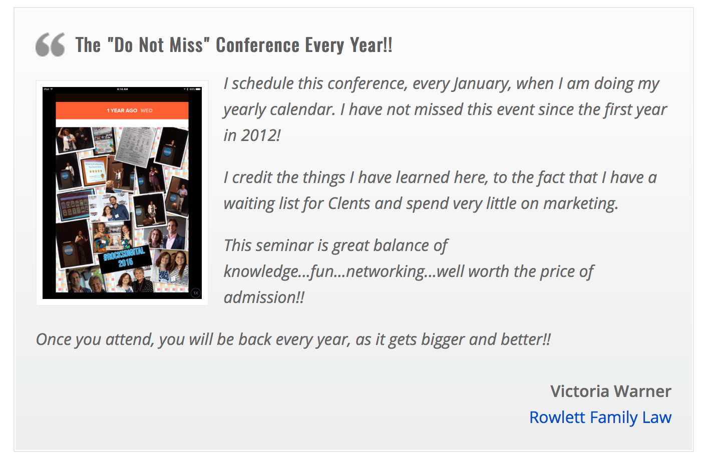 Review Rocks Digital Marketing Conference