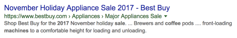 Holiday Featured Search