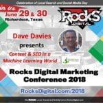 Dave Davies, Internet Marketer, to Speak on User-Intent in a Machine Learning World at Rocks Digital 2018