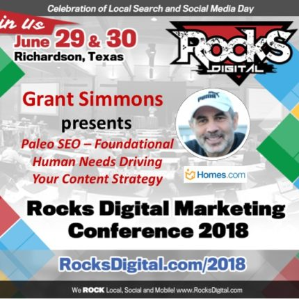 Grant Simmons, Search Marketing Expert, to Speak on Content Ideation and Creation at Rocks Digital 2018