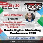 John Peterson, Web Developer, to Speak at Rocks Digital Marketing Conference in Dallas 2018
