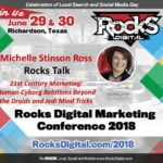Michelle Stinson Ross to Present Rocks Talk on 21st Century Marketing & Human-Cyborg Relations