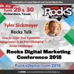 Tyler Sickmeyer to Present a Rocks Talk on the Ever-Changing Social Landscape