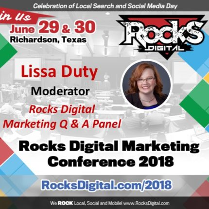 Lissa Duty, Rocks Digital Cofounder and Organizer to Moderate Rocks Digital Marketing Q & A Panel on Social Media Day 2018