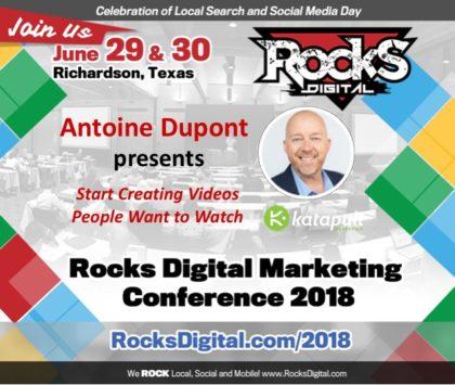 Antoine Dupont to Speak on Creating Videos People Want to Watch at Rocks Digital 2018