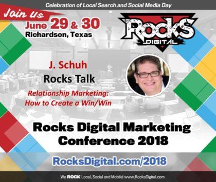 J. Schuh to Present a Rocks Talk on Relationship Marketing at Rocks Digital 2018