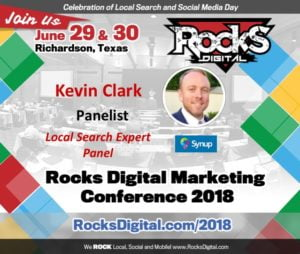 Kevin Clark, VP at Synup, Joins Local Search Day Panel at Rocks Digital 2018