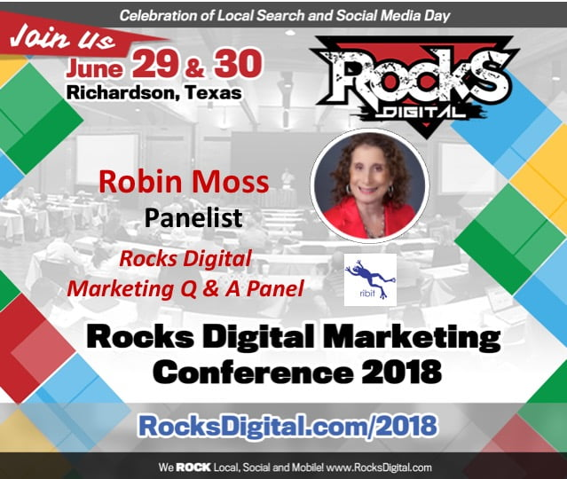 Robin Moss, Digital Marketing Pro, to Participate on 2018 Rocks Digital Marketing Q & A Panel