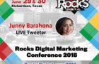 Junny Barahona Returns to Rocks Digital 2018 to Live Tweet for Annual Local Search & Social Media Day Celebration in Dallas