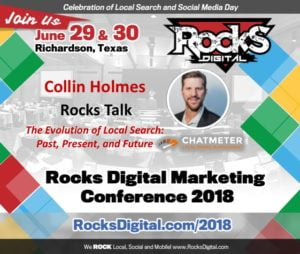 Chatmeter CEO, Collin Holmes, to Present Rocks Talk on the Evolution of Local Search