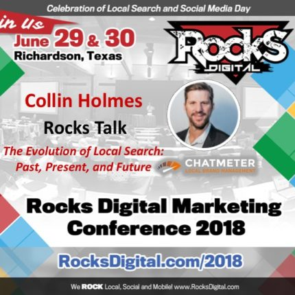 Chatmeter CEO, Collin Holmes, to Present on the Evolution of Local Search at Rocks Digital 2018