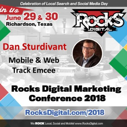 Dan Sturdivant, SEO Pro, to Emcee the Mobile and Web Track at Rocks Digital 2018