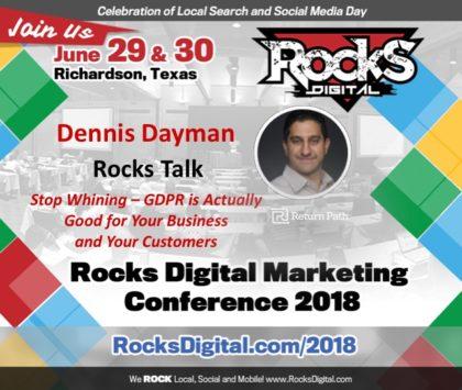 Data Privacy Expert, Dennis Dayman, to Present a Rocks Talk on GDPR at Rocks Digital 2018