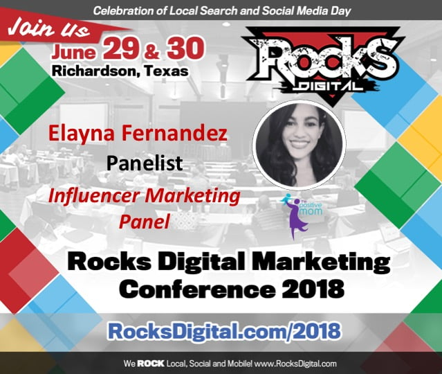 Everyone's Favorite Mompreneur, Elayna Fernandez, Joins the Influencer Marketing Panel at Rocks Digital 2018