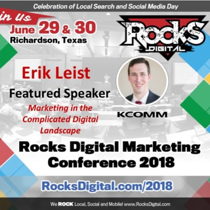 Erik Leist, Digital Strategist, to Join Keynote, Sinan Kanatsiz on Stage at Rocks Digital 2018