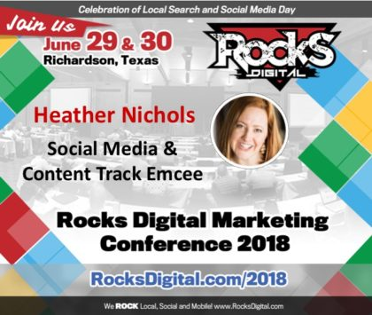 The Social-Savvy Heather Nichols to Emcee the Social Media and Content Track at Rocks Digital 2018