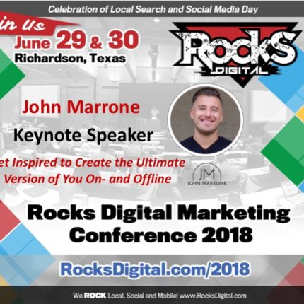 John Marrone, the Ultimate 1on1 Coach, Presents the Power of Inspiration at Rocks Digital 2018