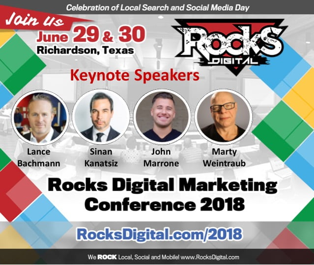 Rocks Digital 2018 Keynote Speakers